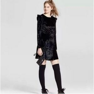 [Mossimo Supply Co.] Black Crushed Velvet Dress